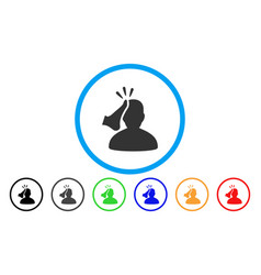 Kickboxer rounded icon vector