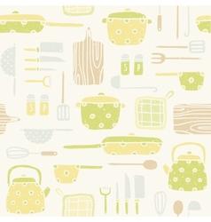 Kitchen utensils pattern vector
