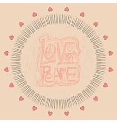 Mandala Love and peace vector image