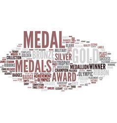 Medal word cloud concept vector
