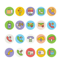 Networking and communication icons 4 vector