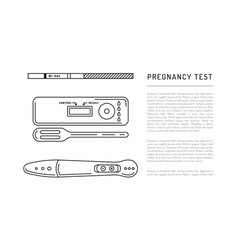 Outline silhouettes pregnancy test vector