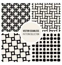 Seamless geometric pattern collection vector