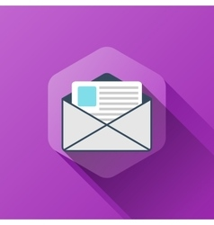 Simple of new message icon in flat vector