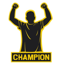 sport fan - champion design vector image vector image