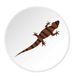 Striped chameleon icon flat style vector