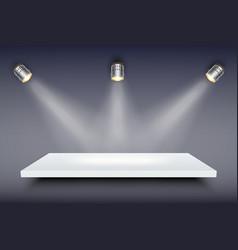 White presentation platform vector