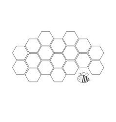 Honeycomb set beehive element honey icon bee vector
