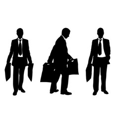 Silhouettes of people with shopping bags vector