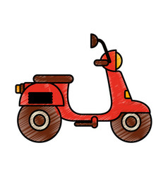 Motorcycle delivery vehicle icon vector