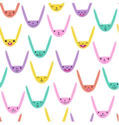 Rabbit seamless pattern-04 vector