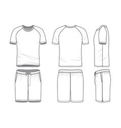 Templates of blank t-shirt and shorts vector
