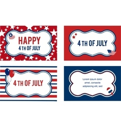 4th of july labels or cards vector image