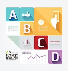 Modern Design Minimal style infographic templateca vector image