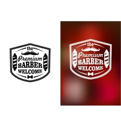 Vintage barber shop welcome banner design vector
