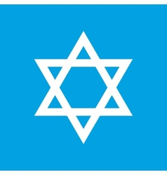Judaism white icon vector