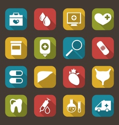 Collection trendy flat medical icons vector