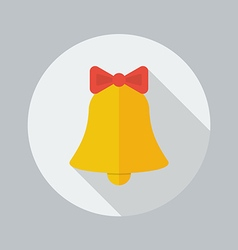 Christmas flat icon bell vector