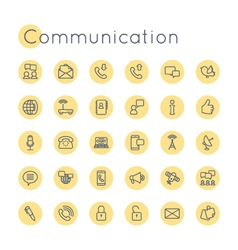 Round communication icons vector