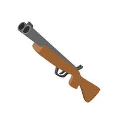 Hunting rifle cartoon icon vector