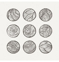 Circles set  pattern vector