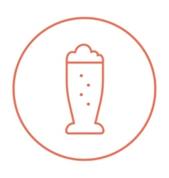 Glass of beer line icon vector