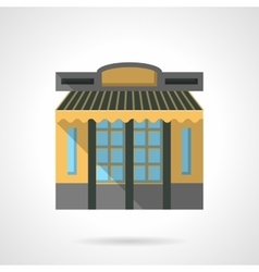 Cafeteria facade flat color design icon vector