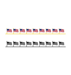 Usa flag web bar vector