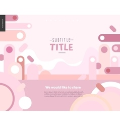 Pink design landscape template vector