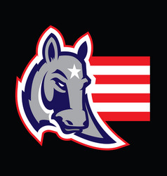 american politics concept of a donkey vector image