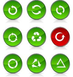 Arrows icons vector image