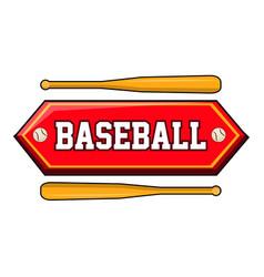 baseball logo with bats vector image vector image