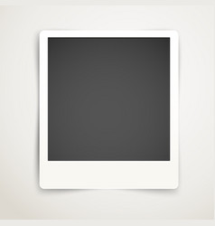 Blank photo frame template Ready for a content vector image vector image