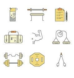 Bodybuilding Icons vector image