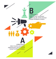 Business infographics template for text and vector