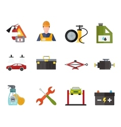 Car service repair vecror icons set vector image