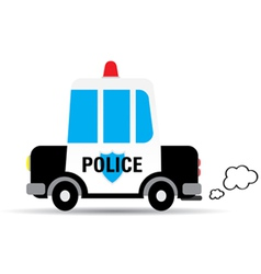 Cartoon car police vector image