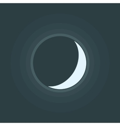 Crescent Moon Icon vector image