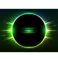 Dark green shining cosmic ring vector image