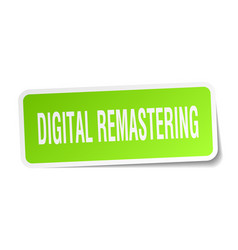 Digital remastering square sticker on white vector