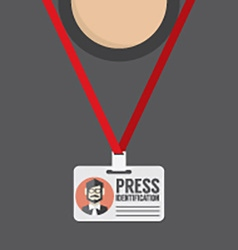 Flat Design Press Identification vector image