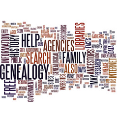 Free genealogy search site text background word vector