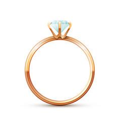 Gold wedding ring vector