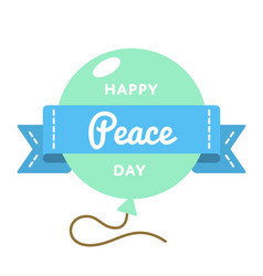 Happy peace day greeting emblem vector