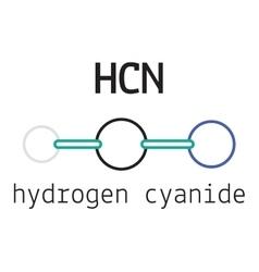HCN hydrogen cyanide molecule vector image vector image