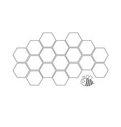 Honeycomb set Beehive element Honey icon Bee vector image vector image