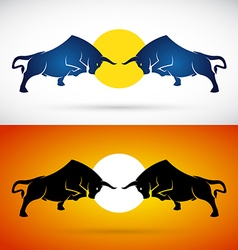 image of an bull fight vector image