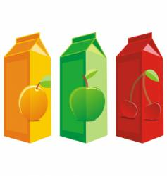 juice boxes vector image vector image