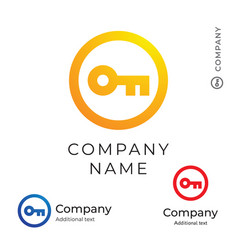 Key logo modern simple and clean identity brand vector