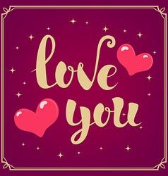 Love You phrase vector image